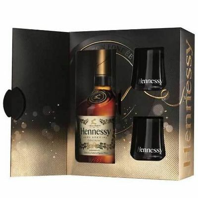 Hennessy VS Very Special Cognac Gift Set 2 Tumbler Glasses Birthday Gift