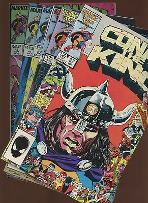 Conan the King 37,38,39,40,41,42 ~ 6 Book Lot * Mike Manley! Mike Docherty!