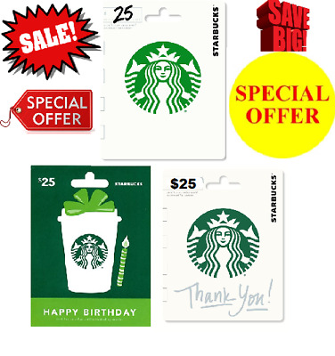 NEW Starbucks Gift Card $25 Coffee Lover 2018 Redeemable Activated Physical Card