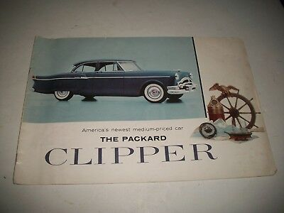 1954 Packard Clipper Large Sales Brochure Club Sedan Deluxe Touring More