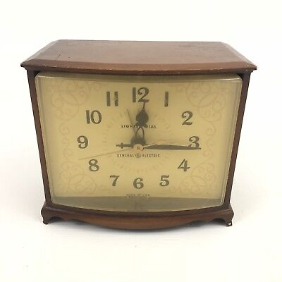 Vintage General Electric Light Dial Alarm Clock from late 50's to early 1960's
