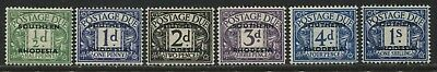 Southern Rhodesia 1951 overprinted Postage Due set 1/2d to 1/ mint o.g.
