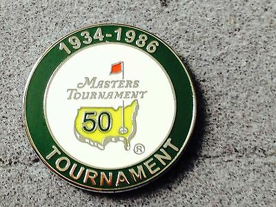 U.S. MASTERS 50 Years 1934 - 1986  WON BY JACK NICKLAUS  GOLF BALL MARKER & CASE