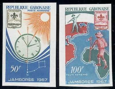 Gabon Scott #C56-C57 MNH IMPERF Boy Scouts World Jamboree $$