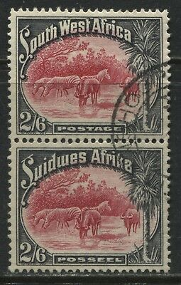 South West Africa 1931 2/6d pair used