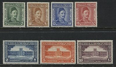 Sudan 1935 5 mills to 10 piastres mint o.g.