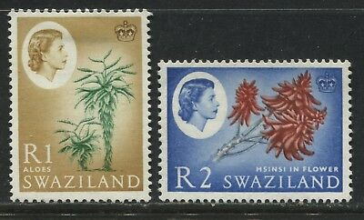Swaziland QEII 1 and 2 rands mint o.g.