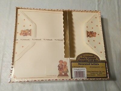 1992 M.J. Hummel Stationary and Envelope Set in Fabric Box Sealed in Box