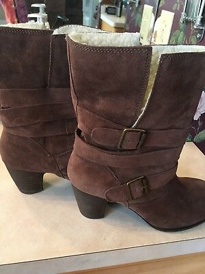 7faed01879b NINE WEST VINTAGE America I Heart NY Boot Dark Brown Womens 8.5 New Without  Box
