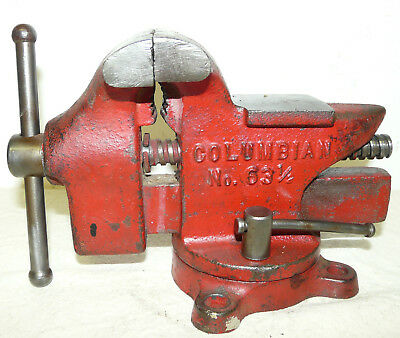 Vintage Master Craftsman 8v549 Bench Vise Jaws Small
