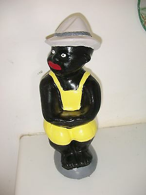 Black Fishing Boy Concrete Statue..(Lawn Jockey Dude) Yard Art .best.paint