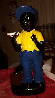 Black Shoeshine Boy Statue..(Lawn Jockey Cousin) Yard Art   Black Americana