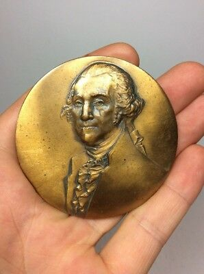 Bronze Medal Sons Of The Revolution New York State 1933 George Washington Medal