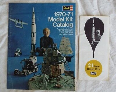 (2) Revell 1969 & 1970-71 Model Kit Catalogs - Great Gift Items - Free Shipping