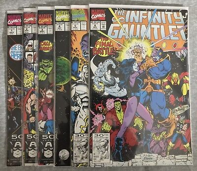 The Infinity Gauntlet # 1 - 6, Complete SIX Issue LTD Series, VF/NM, 1991