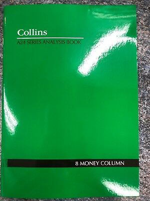 2 X Collins A24 Series Analysis Book 8 Money Column 8MC  - 10208