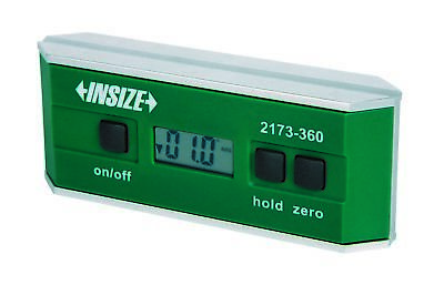 Insize Electronic Digital Level and Protractor, 0-360 (90x4) (2173-360)