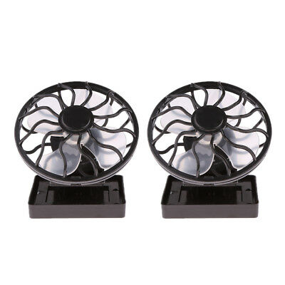 2pcs Ventilateur Portable Pile de Batterie Rechargeable Mini Oscillant à