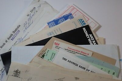 Collection of vintage Australian banking documents and ephemera SNK994
