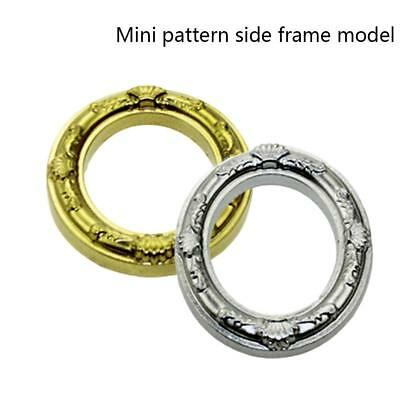 1/12 Dollhouse Miniature Mini Lace Gold Oval Round Picture Art Frame DIY Toy