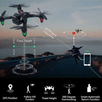WIFI RC GW198 5G 2.4G Remote Control Drone With 720P Camera GPS Night Flight New
