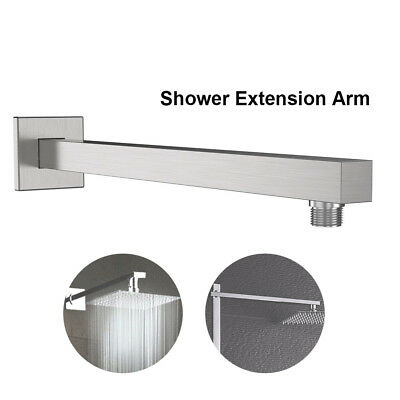 Brushed Nickel Bathroom Replacement 16'' Universal Shower Straight Extension Arm
