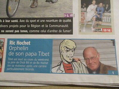 Journal Du Deces De : Tibet (Ric Hochet Et Chick Bill) 04/01/2010