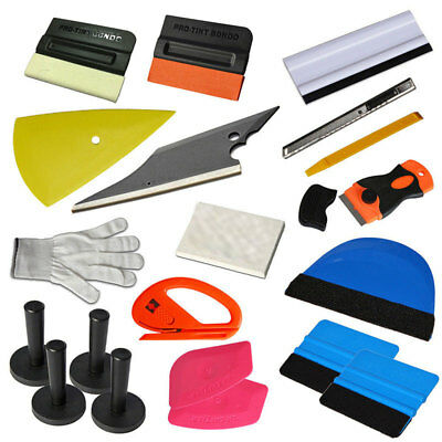 NEW Car Wrap Vinyl Tools Kit Scratch-free Squeegee Scraper Razor Glove Magnets