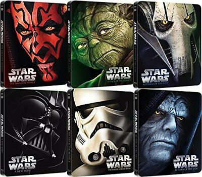 Star Wars Episodes I - VI Complete Steelbook Collection Blu-Ray