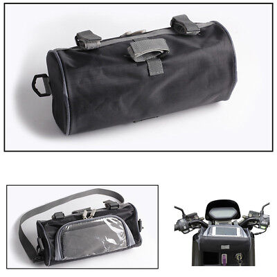 1x Motorcycle Electric Car Windshield Bag Front Handlebar Fork Storage Container
