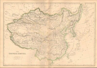 1860 ca Antique Map- Edward Weller - Chinese Empire