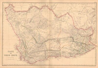 1860 ca Antique Map- Edward Weller - Cape of Good Hope