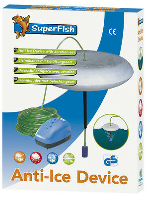 Superfish Ice Preventer with Ventilator Set Belueftungsset Pond Anti-ice Device