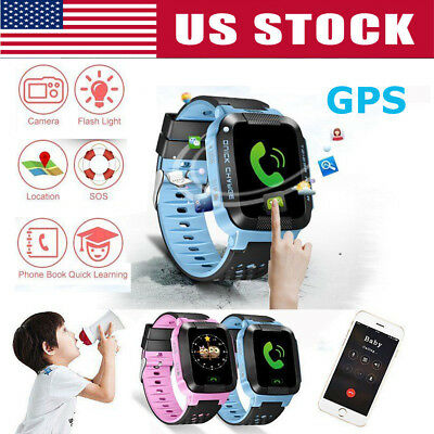 GPS Tracker Anti-lost SOS Call Children Smart Watch For Android IOS Phone USA