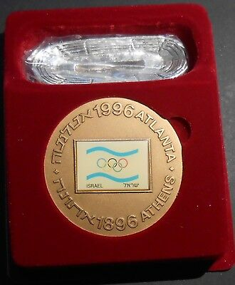 1996 Israel 100 Years Modern Olympic Large Bronze Medal