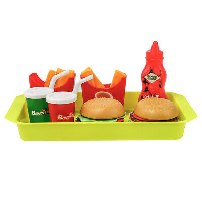 8pcs Kids Pretend Role Play Fast Food French Fries Cuisine Set Toy