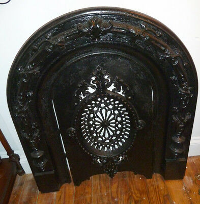 Vintage Fire Front,Fireplace Cover,Mantle Opening Stop for summer,Cast Iron,2 Pi