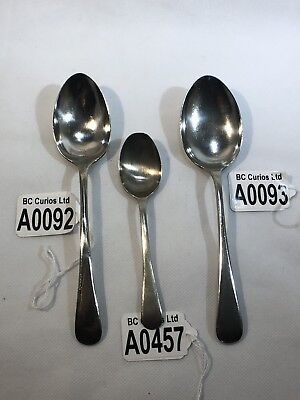 3 x WW2 Issued British Army Field Spoons Broad Arrow Stamped Dated 1939, 40 & 42