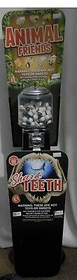"""Beaver Gumball Machine with two subjects """"Shark Teeth"""" & """"Animal Friends"""""""
