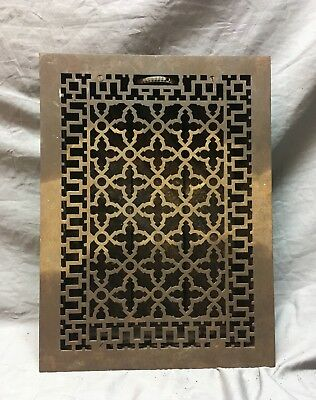 Antique Cast Iron Gothic Style Heat Grate Floor Register 12x17  Vtg Old   14-18C