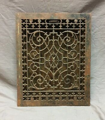 Antique Cast Iron Victorian Heat Grate Floor Register 14x18  Vtg Old   15-18C