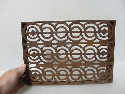 Victorian Iron Air Brick Vent Grille Grate Architectural Antique Old 9x12""
