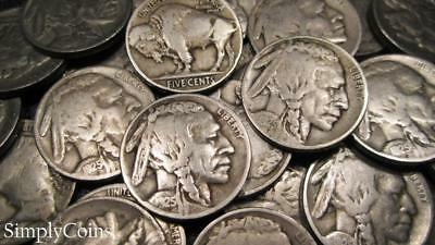 (40) 1925 Indian Head Buffalo Nickel Roll ~ Partial Dates ~ Coin Lot