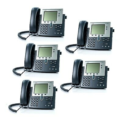 5x CISCO IP Phone 7942 VoIP CP-7942G Office Telephone @@@