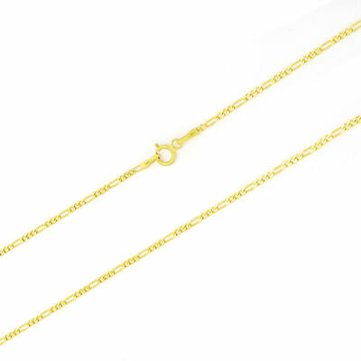 """10K Solid Yellow Gold 2mm Womens Figaro Link Chain Pendant Necklace 16""""- 24"""""""