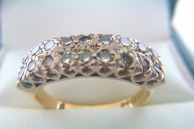 Beautiful Vintage 18ct Gold & 0.72 Diamond Victorian Style Ladies Ring 1979