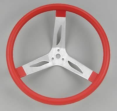 New Rebco 15 in Alum Dished Steering wheel. Red .Late Model