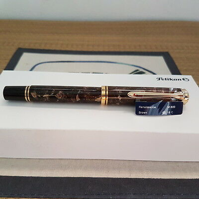 Pelikan M800 Renaissance Brown Fountain Pen EF nib (Special Edition)