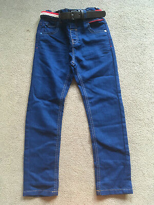 BNWT NEXT Boys Dark Blue Belted Jeans 5-6 Years