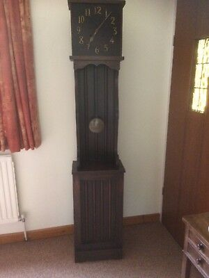 Antique Arts & Crafts Oak Longcase Clock in Bath Somerset